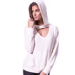 LNA Clothing Brushed Cut Out Hoodie Palest Pink